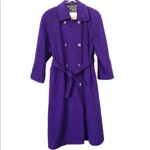 London Fog 100% Wool Long Trench Coat, Size M